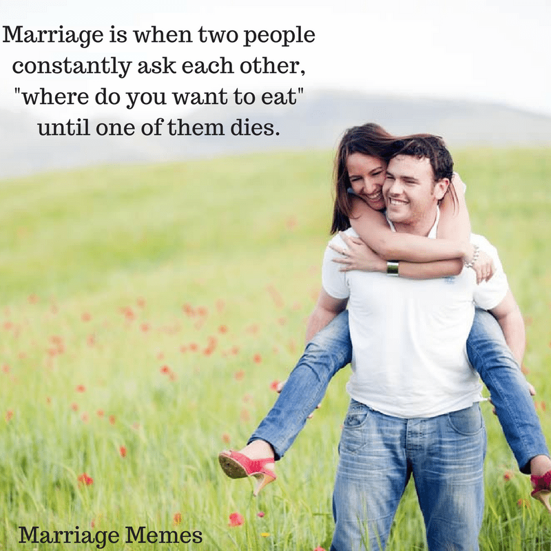 Marriage Memes about finding a place to eat