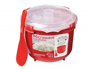 A microwave rice cooker that makes perfectly steamed rice every time