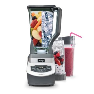A Ninja blender that totally ~crushes it~ in literal seconds. Plus, it comes with two on-the-go cups you can blend right into!