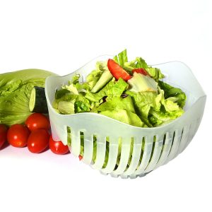 A chopping bowl guaranteed to change your salad game as you know it; just toss in your greens and veggies, run your knife through the slots, rinse, and you're good to go.