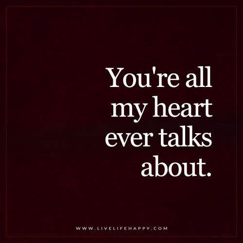 You're all my heart ever talks about meme