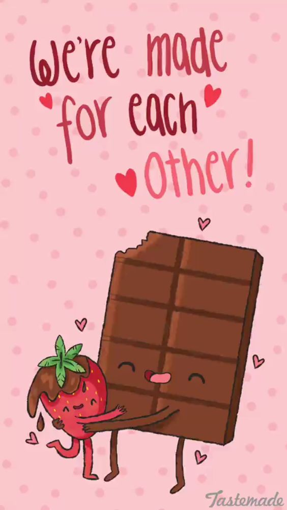 I love you meme chocolate and strawberries