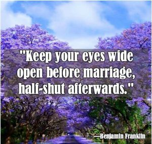 Benjamin Franklin Marriage Quote