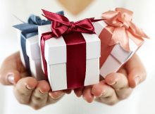 giving a gift to your spouse