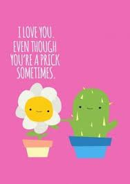 I love you meme cactus